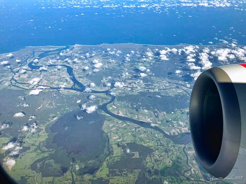 2017 australia nsw newsouthwales aerial viewfromplane windowseat gurranang au clarenceriver chatsworthisland harwoodisland yamba iluka