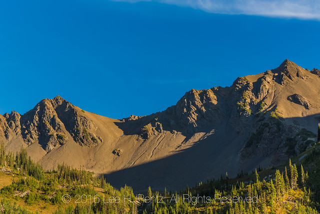 Mountains above Grand Valley in Olympic National Park