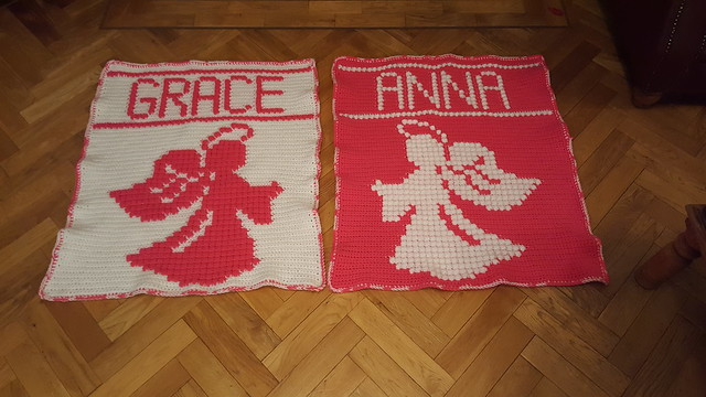 Angel blankets for Anna and Grace