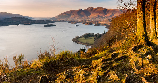Skiddaw and Derwent Water from Surprise View