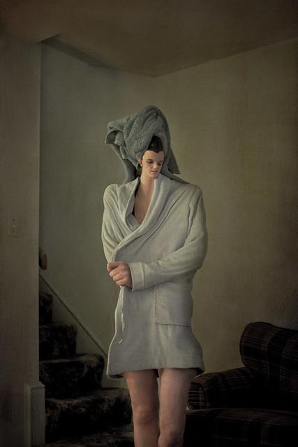 bathrobe woman