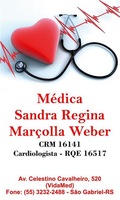 Anúncio Médica Sandra Weber