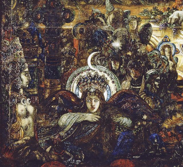 Gustave Moreau - Jupiter und Semele, detail unten 23a  Mondgöttin