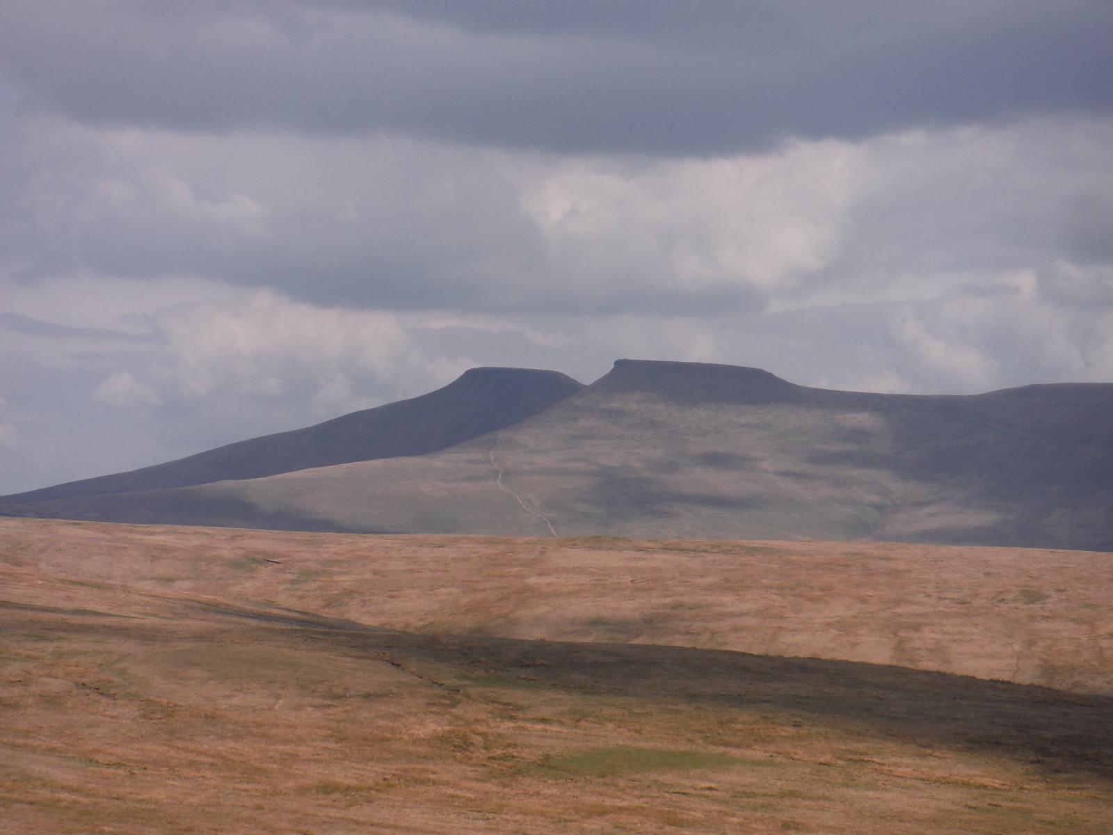 Pen y Fan and Corn Du beyond Fan Dringarth SWC Walk 307 - Fforest Fawr Traverse (Craig y Nos to Llwyn-y-celyn)