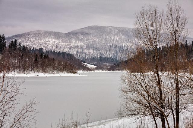 Jezero Lepenice nedaleko Fužina