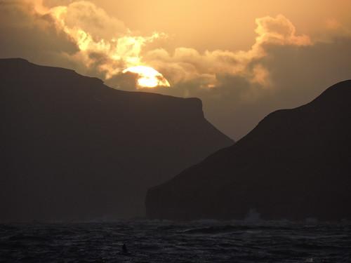 faroes sunset seascape