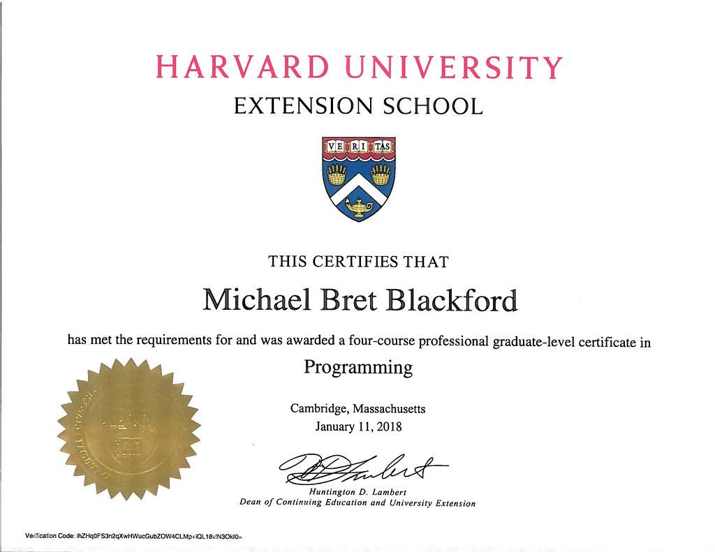 Blackford: Harvard University | Extension School Programming