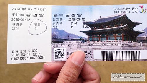 5 hari di Seoul - Gyeongbokgung Ticket | by deffa_utama