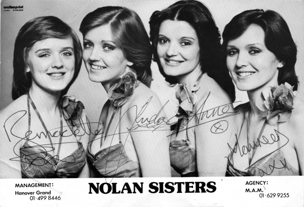 Nolan Sisters | Signed photo of the Nolan Sisters from their