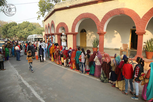 Devotees seeking blessings at Dhaulpur, Rajasthan