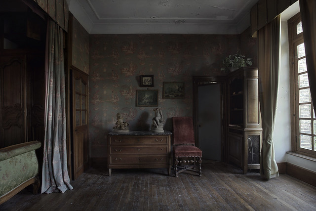 Abandoned mansion bedroom