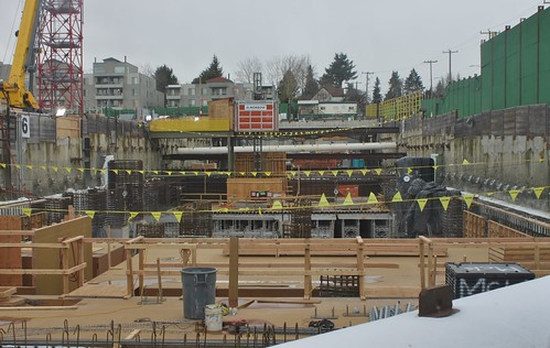 Roosevelt Station under construction, Feb. 2018