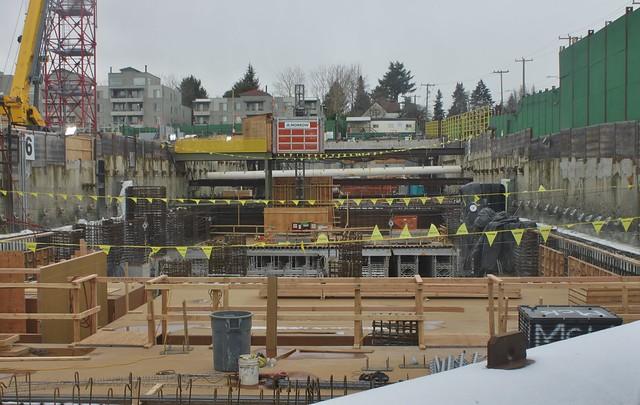 Roosevelt Station under construction, Feb. 2018