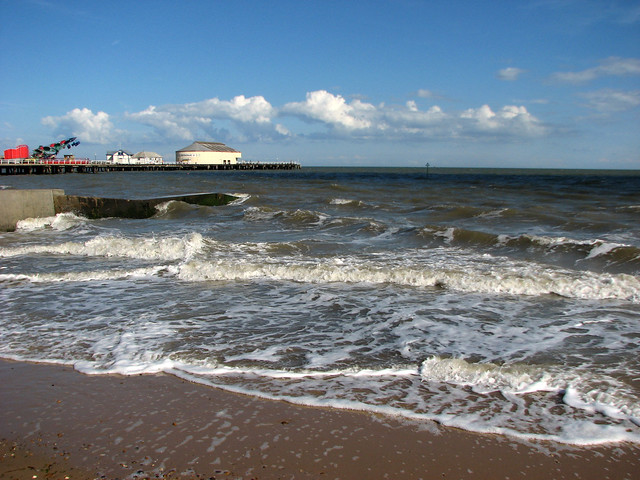 The beach at Clacton-on-Sea