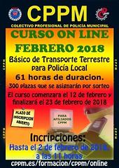 Curso online Basico transporte terrestre para policia local (feb2018)