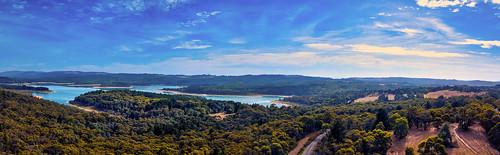 unlimitedphotos yabbadabbadoo australia cardiniareservoir panorama thunder1203 upperbeaconsfield victoria aerialphotography djiaustralia djiglobal djimavicpro dronephotography flyingcamera