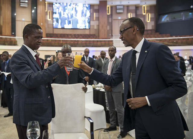 State Banquet hosted in honor of Zambian President Edgar Lungu   Kigali, 21 February 2018