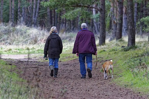walking-couple w dog | by KSRE Photo