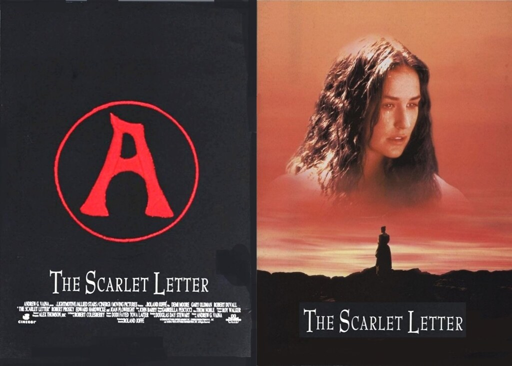 The Scarlet Letter 1995 Buena Vista Front Back Covers