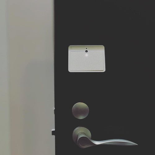 TiNK: smart lock can be elegant. It can have touch control+facial recognition. And it can unlock so much more possibility not just the door. Found at @CEREVO booth #CES2018 check out the various case stories about what it can do. It is so well thought out | by nobihaya