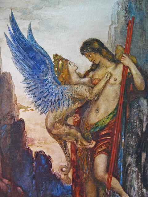 GM Oedipe et le sphinx, detail 11b - Louvre RF2131