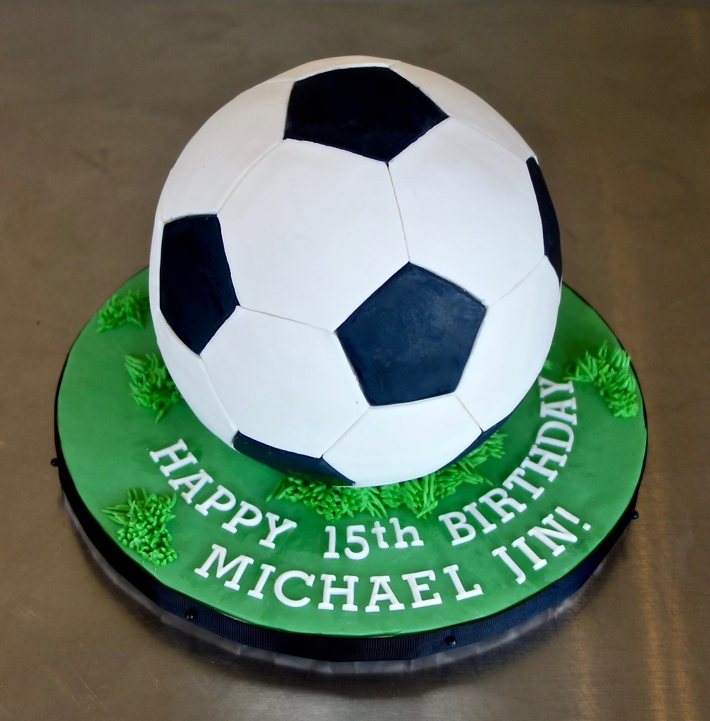 Sensational Soccer Ball Birthday Cake Sasa Flickr Personalised Birthday Cards Veneteletsinfo