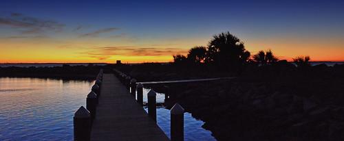 sunsets red blue water ocean portstjo florida outdoors nature orange