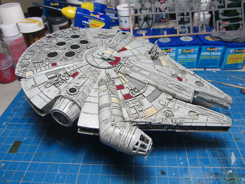 Revell_Millennium_Falcon_Build_wipd_6 | by dermot.moriarty