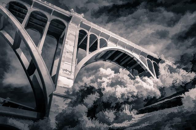 Colorado St. Bridge - Textured IR Duotone