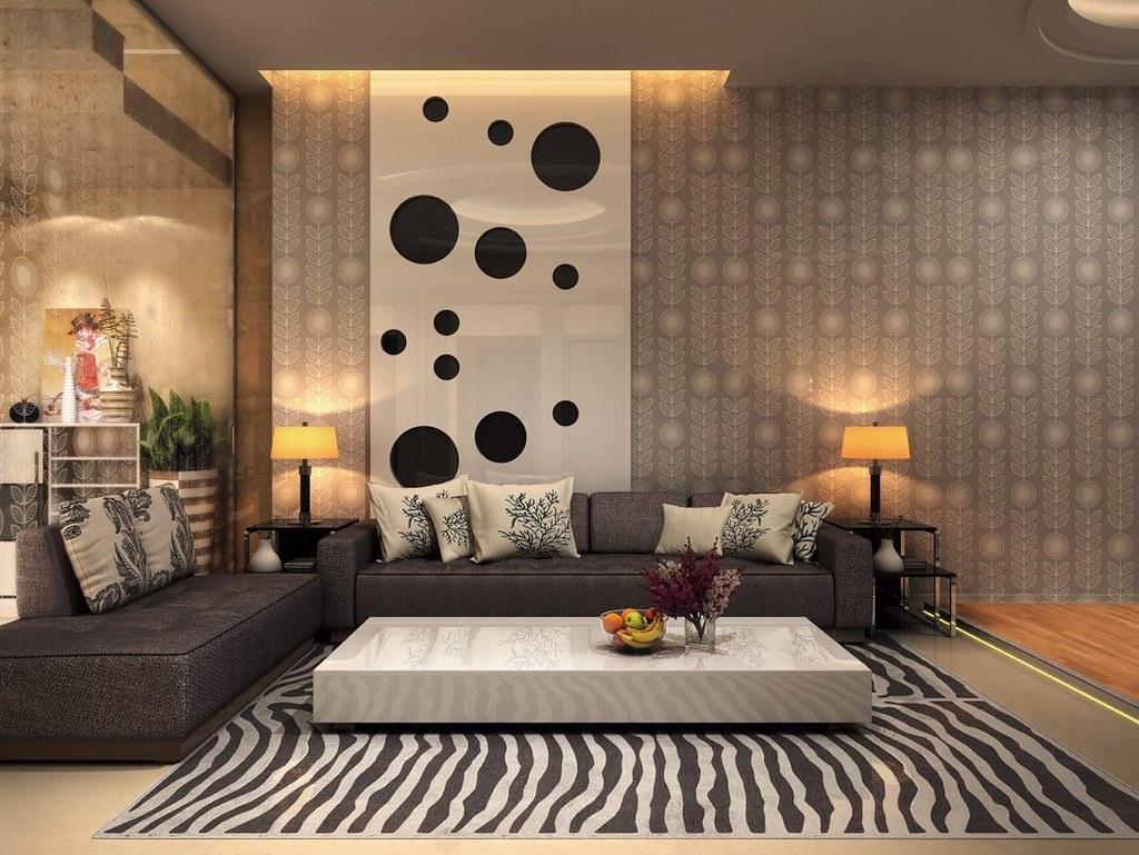 Zebra Rug Spotty Artwork Animal Living Room Designs Flickr