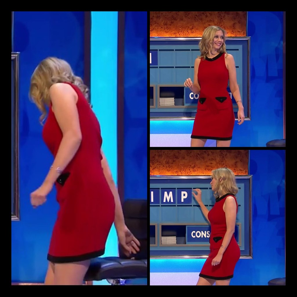 8 Out 10 Cats Does Countdown Rachel Riley Short Red Dress A Photo On Flickriver