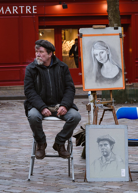 Pintor en Plaçe du Tertre, Montmartre.