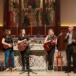 Tue, 20/02/2018 - 1:08pm - The trio of Sara Watkins, Sarah Jarosz and Aoife O'Donovan play for WFUV listeners at the Fordham University Church in NYC, 2/20/18. Hosted by John Platt. Photo by Gus Philippas/WFUV