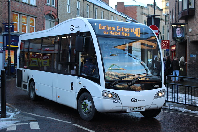 Go North East: 9086 YJ67GEK Optare Solo SR