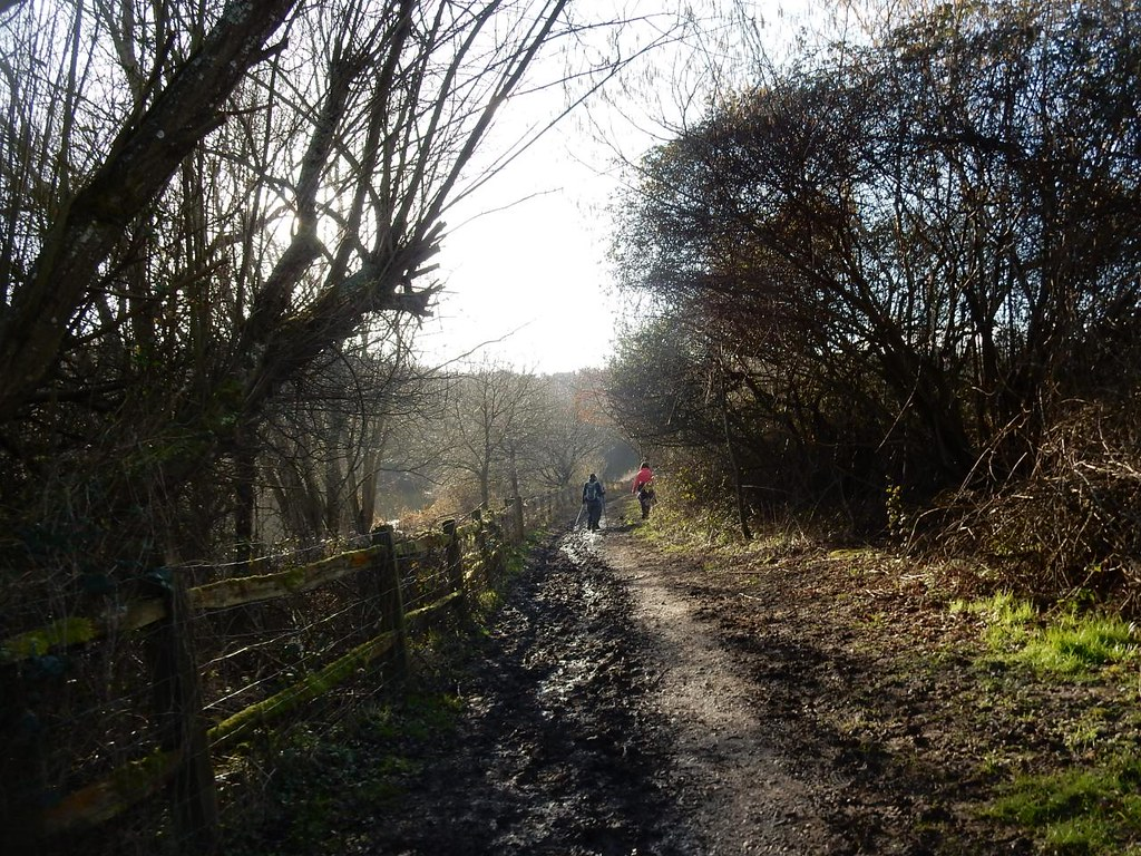 On and on Balcombe Circular (winter)