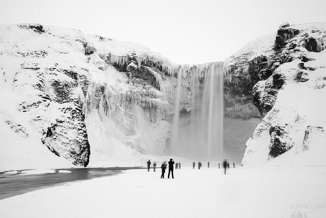 Frozen Skógafoss