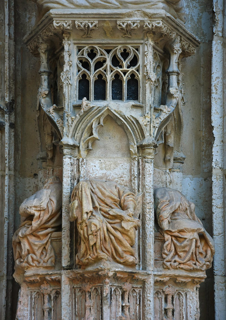 Rouen (France), St. Maclou, central west portal (end of 15th c.), pedestal of the jamb.