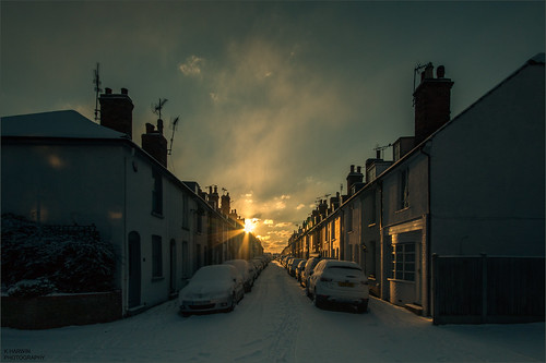 buildings house cars snow winter cold white sunrise sun cloud sky orange canon eos 70d sigma 1020mm lens whitstable kent south east uk england britain bubble
