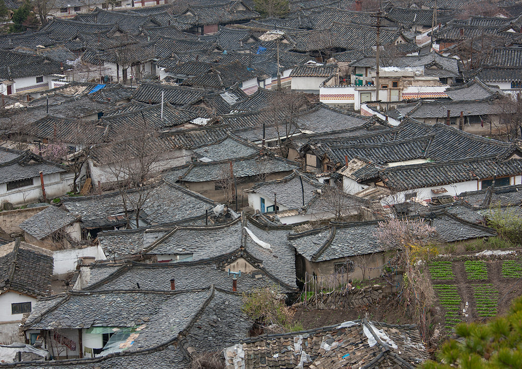 High Angle View Of The Korean Houses In The Old Town Nort Flickr