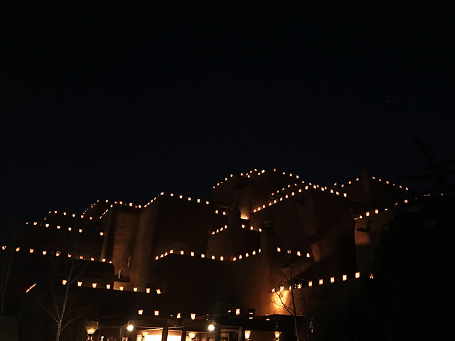 Lights on Adobe Houses, Santa Fe