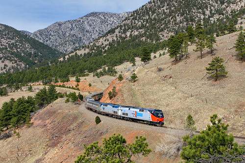 amtrak californiazephyr cz ge p42dc heritage phasei phase1 pointlessarrow tunnel1 upmoffattunnelsub formerriogrande plain plainview colorado 156 train5 5 passengertrain co