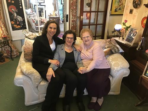 Hephzibah Rudofsky and Zahava Kohn  with Marina Smith at Beth Shalom, the National Holocaust Centre – November 2017   by Surviving The Holocaust