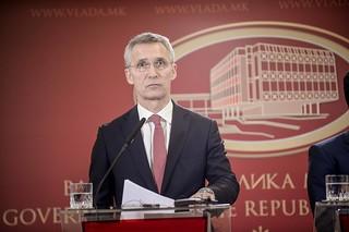 Заедничка прес-конференција на премиерот Заев и на Генералниот секретар на НАТО, Столтенберг | by Влада на Република Северна