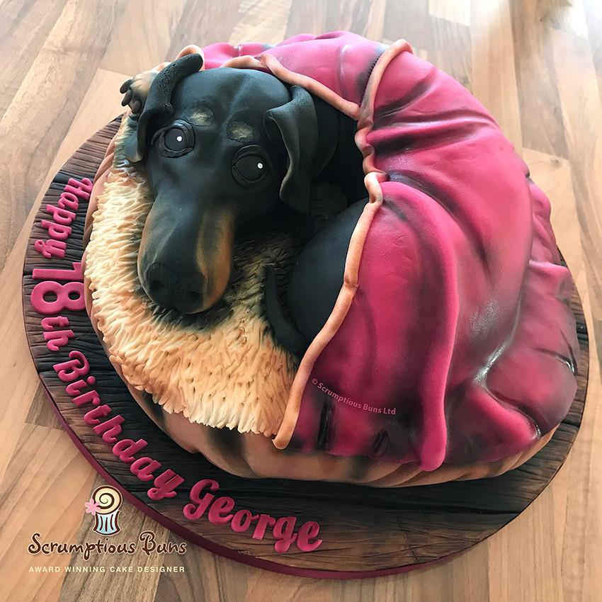 Awe Inspiring Dachshund Birthday Cake Samantha Douglass Flickr Funny Birthday Cards Online Unhofree Goldxyz