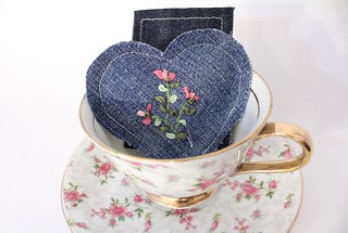 Embroidered Heart Sachets   by smithsoccasional