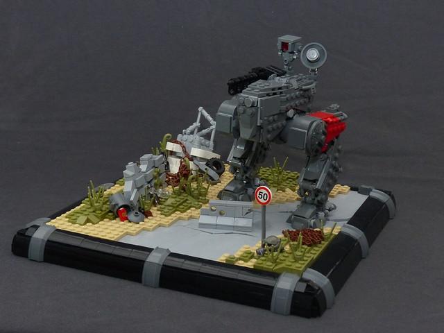 Mecha diorama