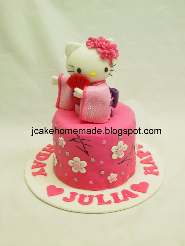 Groovy Hello Kitty Birthday Cake Happy Birthday Julia Thanks Wing Flickr Personalised Birthday Cards Cominlily Jamesorg