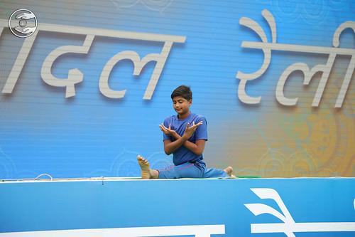 Yoga item by Bal Sewa Dal volunteer