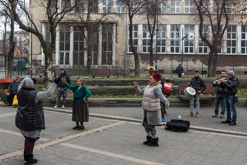 Dancing on the streets of Sofia