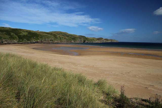 The beach at Strathy Bay